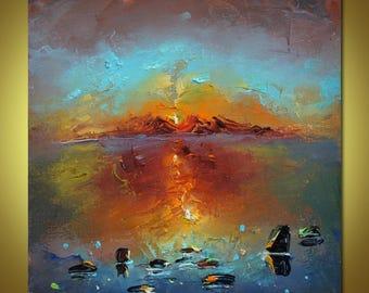 Landscape Painting, Oil Painting Seascape, Living Room Art, Canvas Art, Modern Art, Canvas Wall Decor, Original Art, Oil Painting Abstract