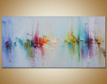 Contemporary Art, Abstract Painting, Original Art, Canvas Painting Seascape  Painting, Canvas Wall
