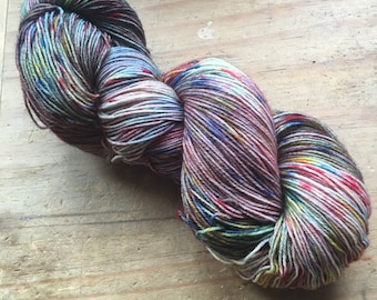 Through the Storm ~ Hand Dyed Blue Faced Leicester Nylon 4 Ply Sock Yarn Wool