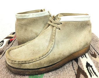 clarks suede leather shoes wallaby made in ireland size 8