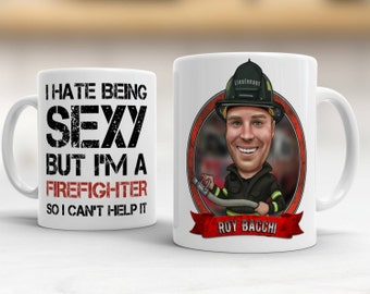 Custom Firefighter Gift Ideas, Gift For Firefighter, Personalized Firefighter Gift, Firefighter Gift For Him, Firefighter Mug, Fireman Gift