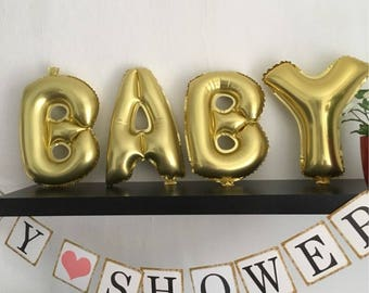 "16"" Gold Baby balloons / baby showers / party decorations"