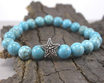 Bracelet Star and Turquoise