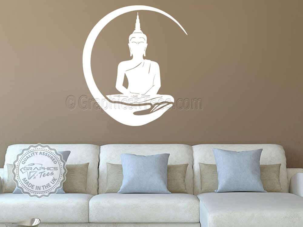 Buddha wall sticker yoga lounge home wall art mural decal for Buddha wall mural