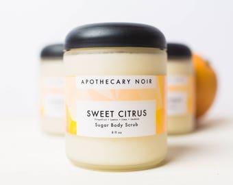 SWEET CITRUS - Sugar Body Scrub - Grapefruit + Lemon + Lime + Jasmine + Orange Peel - 8 oz.
