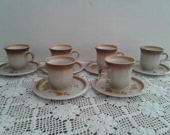 Stonemanor Tea Cups (6 pc), 1970s
