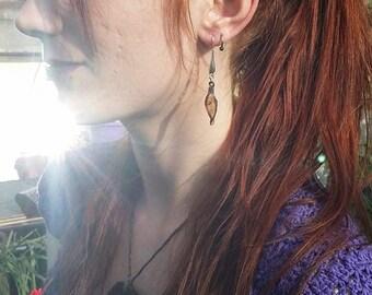 Little Real Leaf Earrings