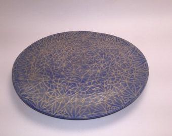 Light blue mosaic plate