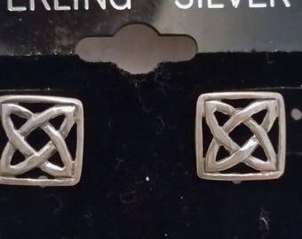 Sterling Silver Celtic Knot Post Earrings