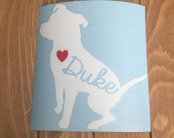 6 inch Pit Bull, Staffordshire Terrier, Staffy, Bully Customized Vinyl Decal