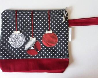 "Knitting or crochet project bag ""Christmas Ornaments"", small size, socks size - Borsa portalavoro a maglia o all'uncinetto"