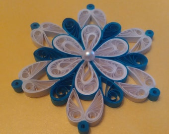 Set of 3,4,5 Quilling snowflake,  Quilling Christmas ornament, Paper Snowflake