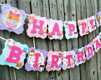 Num Noms Banner, Num noms Birthday Banner, Num noms, Num noms Party, Num noms Decor, Num noms Photo prop, Birthday Banner, Pastel Banner