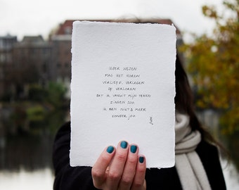 nothing more | poem on cotton paper