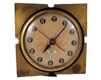 Vintage Tele-Jour Alarm Clock - Telechron Day Date Electric Clock - Model 8H29 - General Electric Ashland Massachusetts - Mid Century Clock