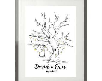 Framed FingerPrint Tree with custom lettering