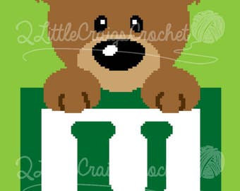 INSTANT DOWNLOAD - Teddy Bear Crochet - Crochet Alphabet - Graphgan - Afghan - Crochet Graph Pattern - Baby Blanket - Crochet Graph