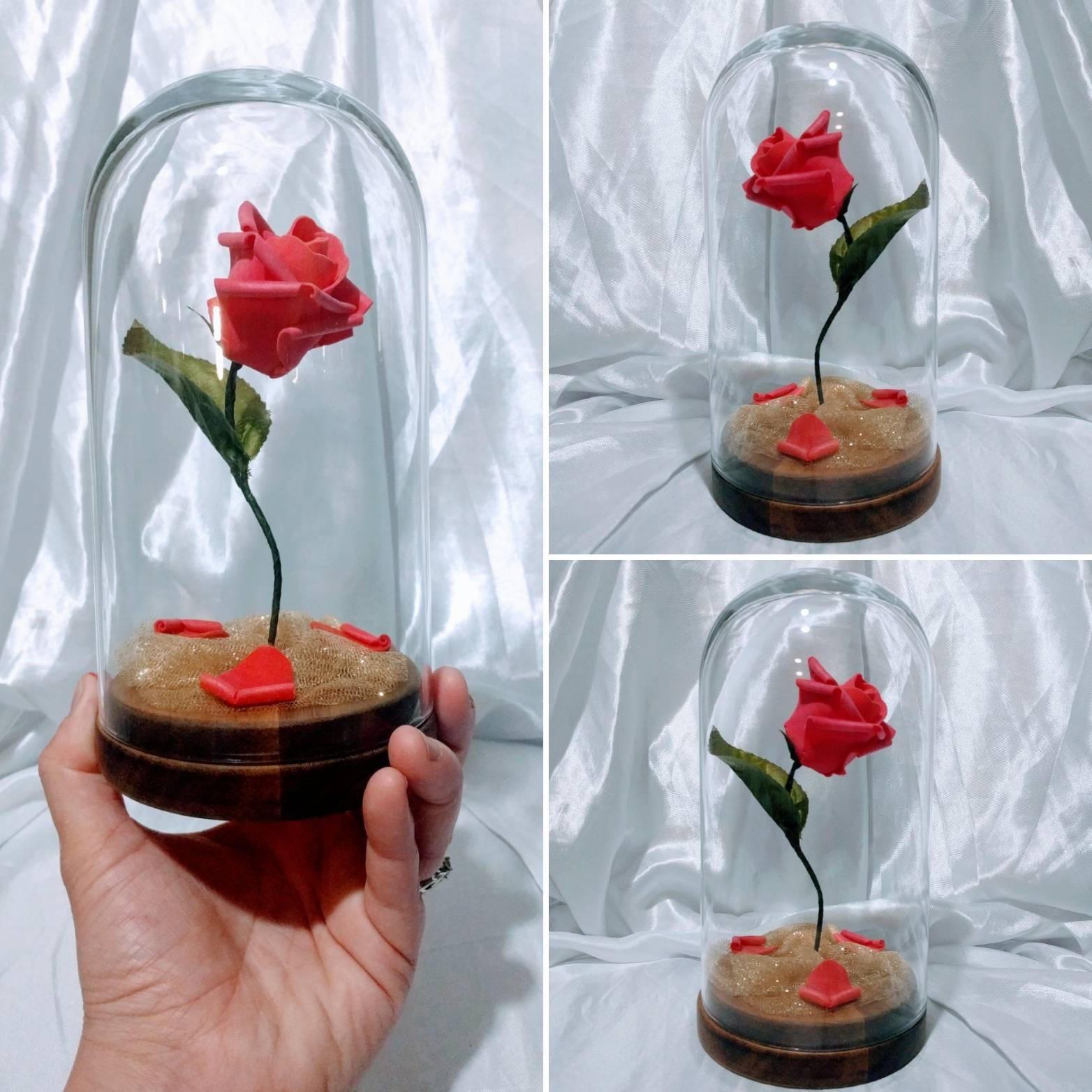 Disneys beauty the beast inspired enchanted rose centerpiece