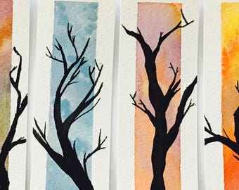 Extra Large Silhouette Panel - Tree