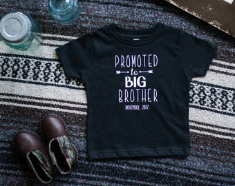 Promoted To Big Brother T-shirt, Big Brother T-shirt, Going To Be a Big Brother, Pregnancy Announcement, New Baby T-shirt, Announce Baby