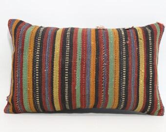 12x20 anatolian turkish striped kilim pillow decorative kilim pillow thrwo pillow ethnic pillow bohemian pillow cushion cover SP3050-734