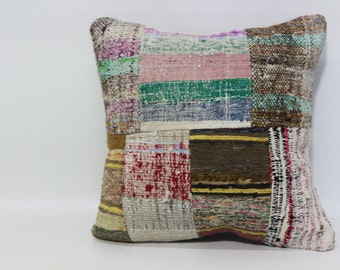 Patchwork Kelim Kissen Home Decor 20x20 Fllor Pillow Large Kilim Pillow Ethnic Pillow Cushion Cover Bed Pillow Throw Pillow SP5050-1106