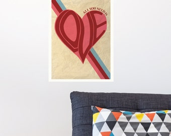 All You Need Is Love - The Beatles Wall Decal