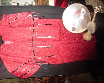 Native American t dress, ribbon dress for pow wow and ceremony