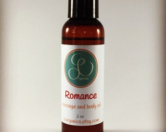 Massage Body Oil, Sensual Massage and Body Oil, Romance Body Oil - 4oz