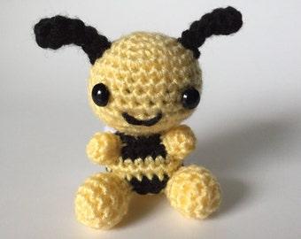 Bumble Bee Plush, Little Bumble Bee Stuffed Animal, Crochet Bumble Bee, Crochet Bee, Amigurumi Bee, Bee Plush, Cute Bee