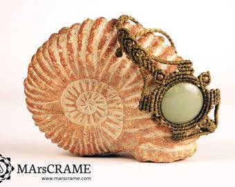 TARTARUGA. Bracelet macrame with Aventurine, bracelet Macrame, Macrame, Gypsy, yoga, micro macrame, gift, gift woman, stone chakra, jewelry