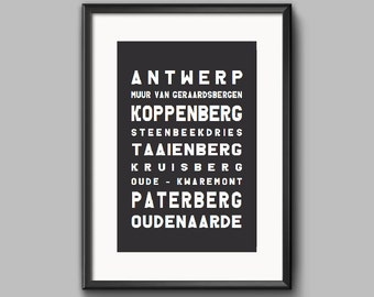 Tour of Flanders 2017 - Cycling Print