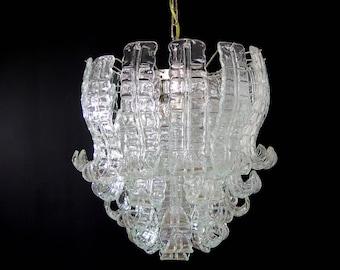 Italian Murano Six-Tier Felci Glass chandelier - 41 glasses