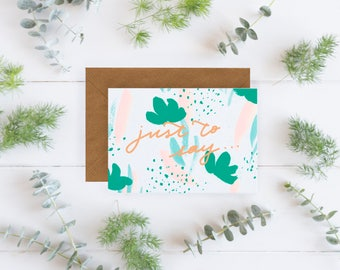 Just to Say Notecard Set- Pack of 3, Just to say cards, blank cards, notecard set, Blank notecard set, Illustrated cards, A6 cards