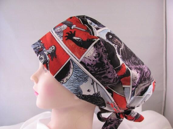 Women's Pixie Scrub Hat Walking Dead Michonne