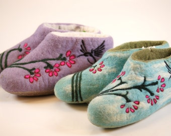 Felted Wool Slipper boots Sale