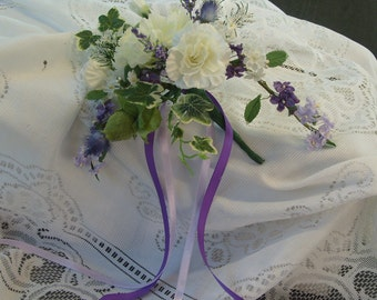Pretty Silk Flower   WEDDING   CAKE TOPPING