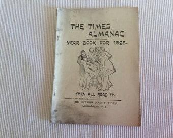 Vintage The Times Almanac Year 1895