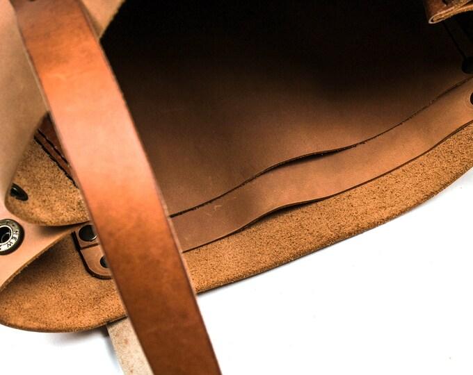 Leather tote bag - custom tote bag - leather handbag - Brown leather handbag - brown leather tote