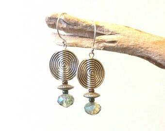 Chic Tribal Crystal Earrings I