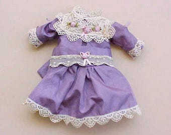 Sweet Little Doll dress for Bisque Doll in Pretty Lilac Color