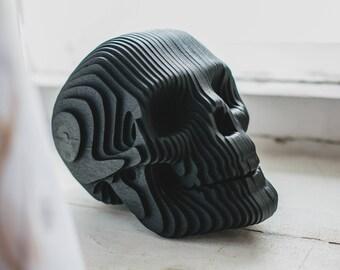 Wooden Human Skull