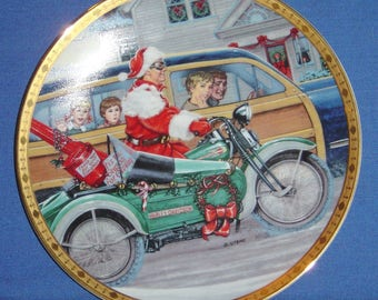 "Roadside Revelation - Harley-Davidson® ""Holiday Memories"" Plate (1997) (JVM)"