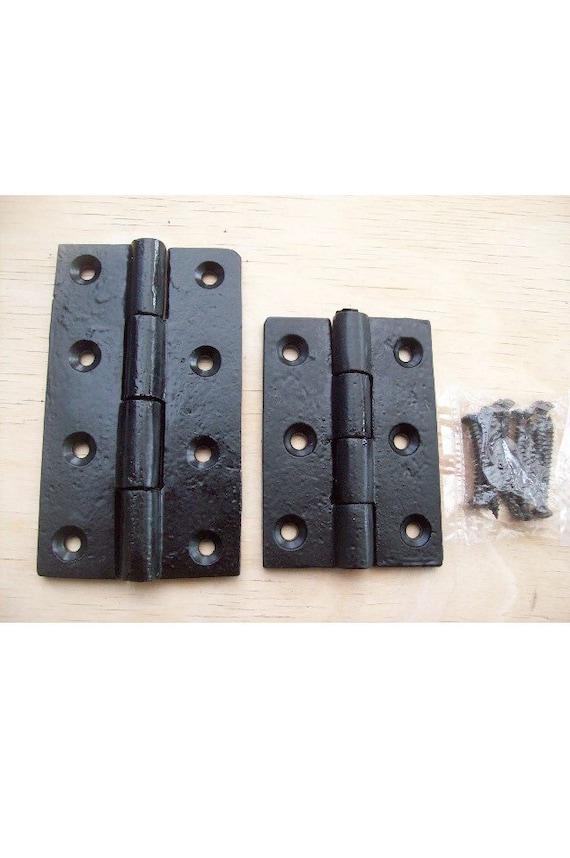 Black cast iron butt door gate hinge rustic antique