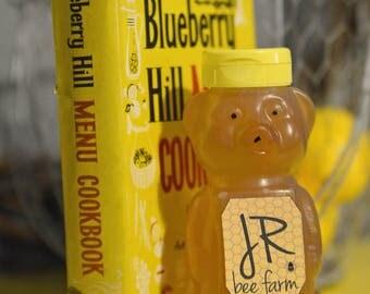 12oz Honey Bear, Raw Michigan Wildflower Honey, Raw Honey, Gift Ideas, Squeeze Bottle,