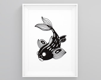 "Illustration ""Koï"" A4 Print"