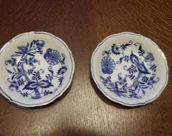 2 - 5 1/2 inch Blue Danube Saucer / Plates