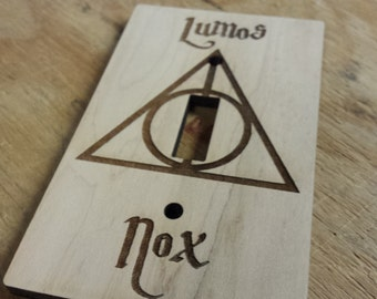 Lumos Nox Light Switch Cover | Harry Potter Light Switch Cover | Harry Potter Switch Plate Cover | Harry Potter Decor