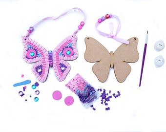 Mosaic Butterfly, Funky Eva Foam, Craft, Diy, Craft Kit, Make Your Own, Party, Gift Idea, Birthday, Holiday Activity Children's, Kit