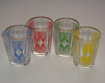 Set of 4 Decorative Shot Glasses